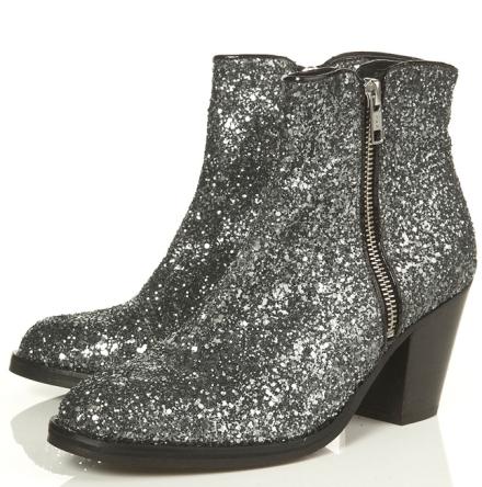 Topshop glitter boots